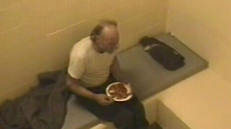 Convicted serial killer Robert Pickton is seen in video taken from his prison cell and released to the public on Aug. 6, 2010. (CTV)