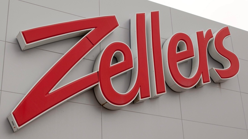 The Zellers sign hangs over the entrance of a store in Quebec City on Thursday, January 13, 2011. (Jacques Boissinot / THE CANADIAN PRESS)