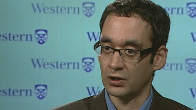 Western University's Dr. Daniel Hackam speaks with CTV News in this undated photo.