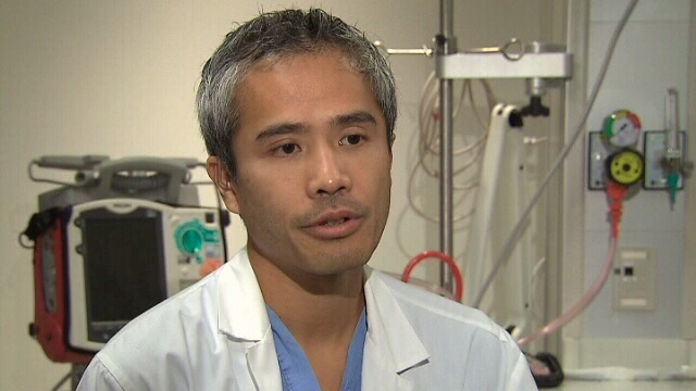 Dr. Derek So, a cardiologist at the University of Ottawa Heart Institute, speaks with CTV News in this undated photo.