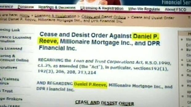 Daniel P. Reeve Cease and Desist Order