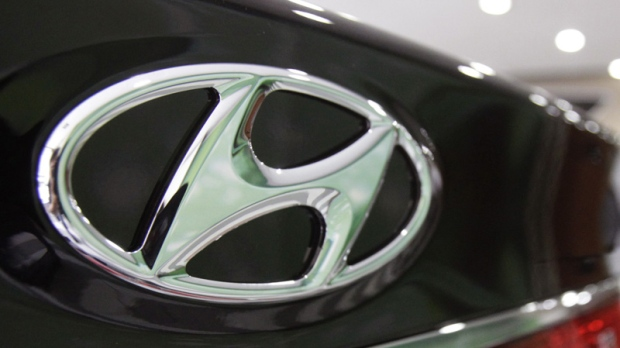 The Hyundai Motor Co. logo is seen in this July 26, 2012 file photo.