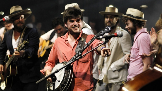 Winston Marshall of Mumford & Sons performs in Austin, Texas on March 17, 2012.