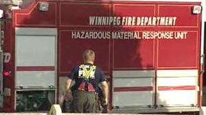Winnipeg's hazardous materials response unit was on scene at Naleway Foods after a chemical leak.