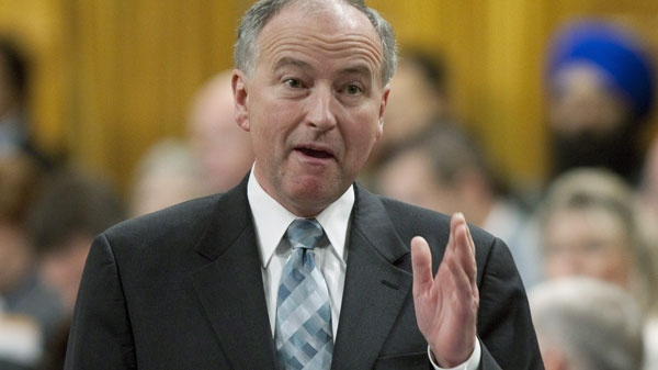 Minister of Justice and Attorney General of Canada Rob Nicholson responds to a question during Question Period in the House of Commons on Parliament Hill in Ottawa, Thursday, June 17, 2010. (Adrian Wyld / THE CANADIAN PRESS)