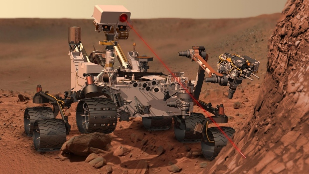 This artists rendering provided by NASA shows the Mars Rover, Curiosity. After traveling 8 1/2 month