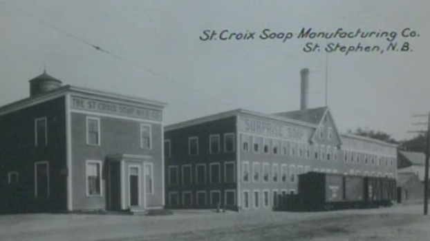 The St. Croix Soap Manufacturing Company was founded in the 1880s by the Ganong Brothers.