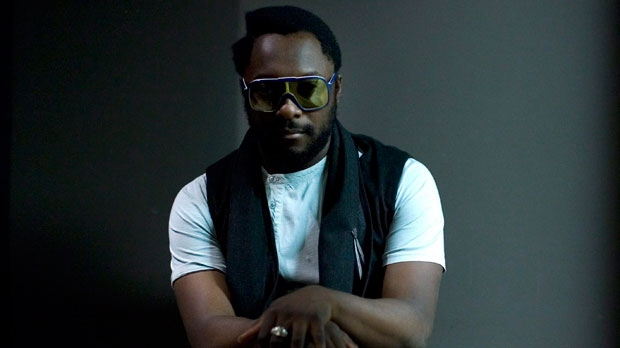 American rapper Will.i.am poses for a photo at the launch of his clothing range 'I.AM'  in Toronto on Monday July 26. 2010. (The Canadian Press/Chris Young)