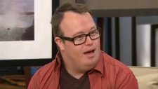 "Actor Nick Herd talked about Judith Thompson's new play ""RARE,"" on Canada AM. The play showcased nine actors who live with Down syndrome. July 31, 2012."