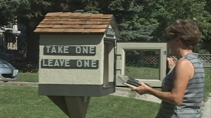 Gary Welke has turned his front lawn into a library for Regina residents.