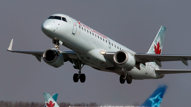 In this file photo, an Air Canada jet takes off from Halifax Stanfield International Airport in Enfield, N.S. on Thursday, March 8, 2012. (Andrew Vaughan / THE CANADIAN PRESS)