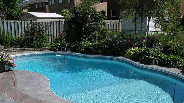 backyard swimming pool outdoor
