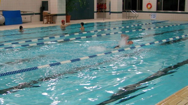 public swimming pool indoor