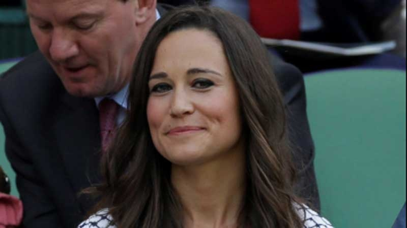 Pippa Middleton, the sister of Britain's Kate, Duchess of Cambridge, arrives at the All England Lawn Tennis Championships at Wimbledon, England, in this June 28, 2012 photo. (AP/Anja Niedringhaus)