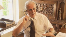 Former premier Bill Vander Zalm speaks to Elections BC from his home. Aug. 11, 2010. (CTV)
