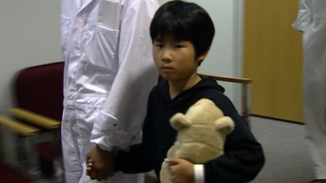 A Chinese child seeking asylum in Canada is seen in this file image from 1999. (CTV)