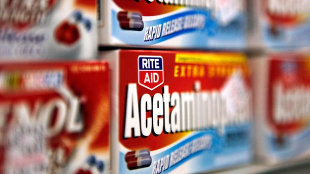 Boxes of Rite Aid brand Acetaminophen is shown on a store shelf in Detroit, Dec. 15, 2009. (AP / Paul Sancya)