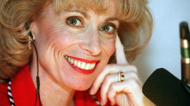 This Feb. 17, 1998 file photo shows Dr. Laura Schlessinger posing during her morning talk show in her Los Angeles studio. Schlessinger is apologizing for blurting a racial slur several times during her talk show, Aug. 10, 2010. (AP Photo/Susan Sterner, File)