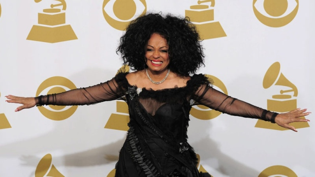 Singer Diana Ross at the Grammy Awards