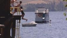 West Kelowna is kicking houseboaters off Okanagan Lake. Aug. 14, 2010. (CTV)