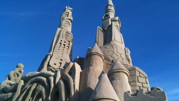 Manitoba's largest sand castle from Grand Beach