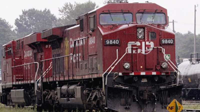 A CP Rail engine is seen in this file photo. (Chuck Stoody/The Canadian Press)