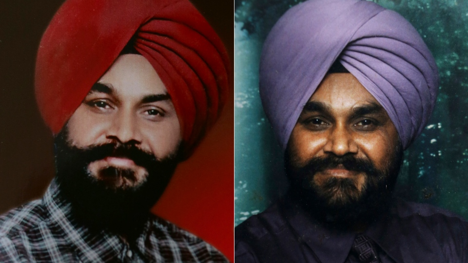 Indian Ranjit Singh, right, and Sita Singh, who were killed in the shooting attack at a Sikh temple in Wisconsin are seen in this combined photo made available by the family. The Indian-born brothers were both killed in the shooting attack Sunday.