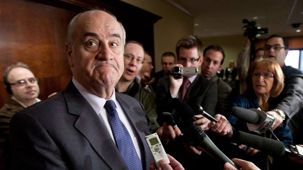 Julian Fantino speaks to the media in Ottawa in this Friday March 16, 2012 file photo. (Adrian Wyld / THE CANADIAN PRESS)