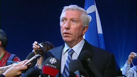 Gilles Duceppe at a gala in honour of his 20 years in federal politics.