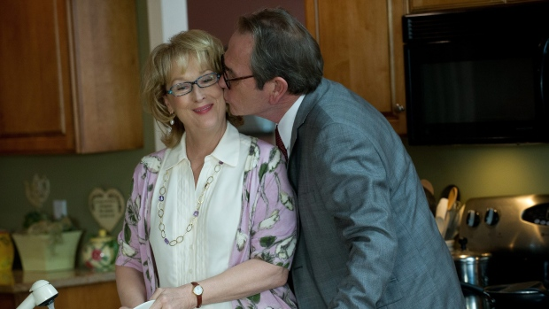 Meryl Streep as Kay Soames, left, and Tommy Lee Jones as Arnold Soames in Sony Pictures Canada's 'Ho
