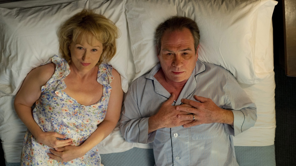 Meryl Streep as Kay Soames, left, and Tommy Lee Jones as Arnold Soames in Sony Pictures Canada's 'Hope Springs.'