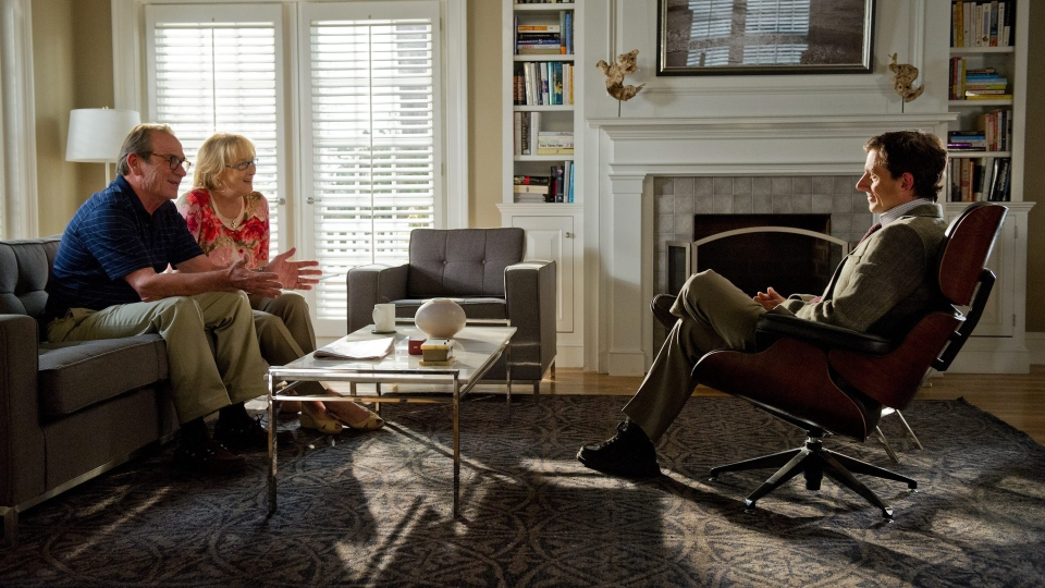 Tommy Lee Jones as Arnold Soames, left, Meryl Streep as Kay Soames and Steve Carell as Dr. Bernard Feld in Sony Pictures Canada's 'Hope Springs.'