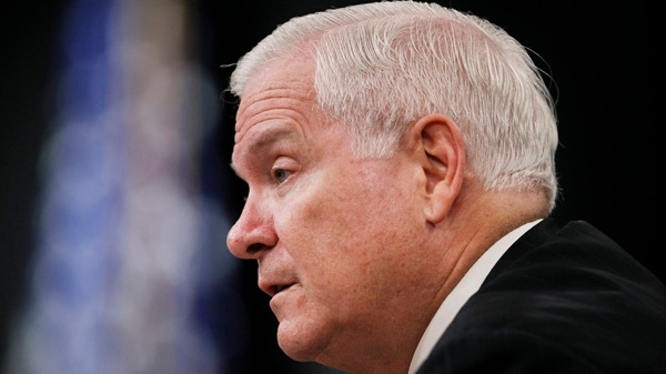 U.S. Defence Secretary Robert Gates speaks during a news conference at the Pentagon in this Aug. 9, 2010 file photo. (AP / Manuel Balce Ceneta)