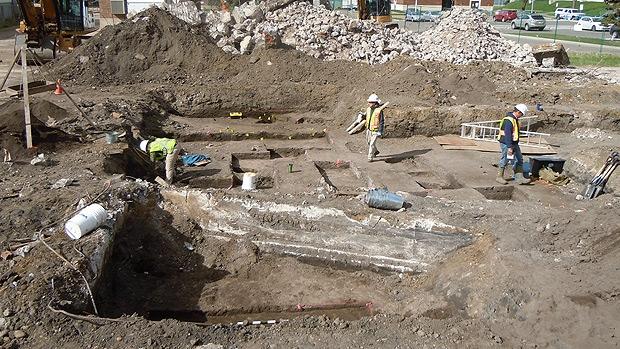 Rossdale Power Plant excavation