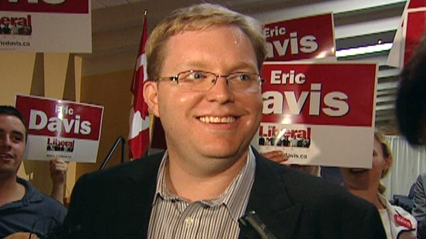 Eric Davis was selected to run for the Liberal Party in the upcoming Kitchener-Waterloo byelection on Thursday, Aug. 9, 2012.
