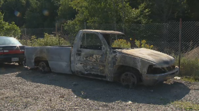 Truck used to take clients to work and social programs was stolen and set on fire.