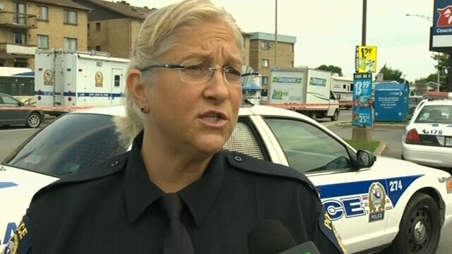 Laval police spokesperson Nathalie Lorrain speaks to CTV News in Montreal on Saturday, Aug. 11, 2012.