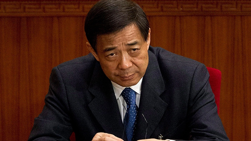 In this March 11, 2012 file photo, then Chongqing party secretary Bo Xilai attends a plenary session of the National People's Congress at the Great Hall of the People in Beijing. (AP / Andy Wong)