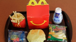In this Nov. 8, 2010 file photo, a Happy Meal is seen at a McDonald's restaurant in San Francisco.  (AP Photo/Eric Risberg)
