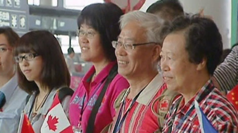 Hundreds of Chinese tourists arrive in Vancouver on Wednesday, Aug. 18, 2010.
