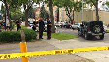 Downtown-area shooting