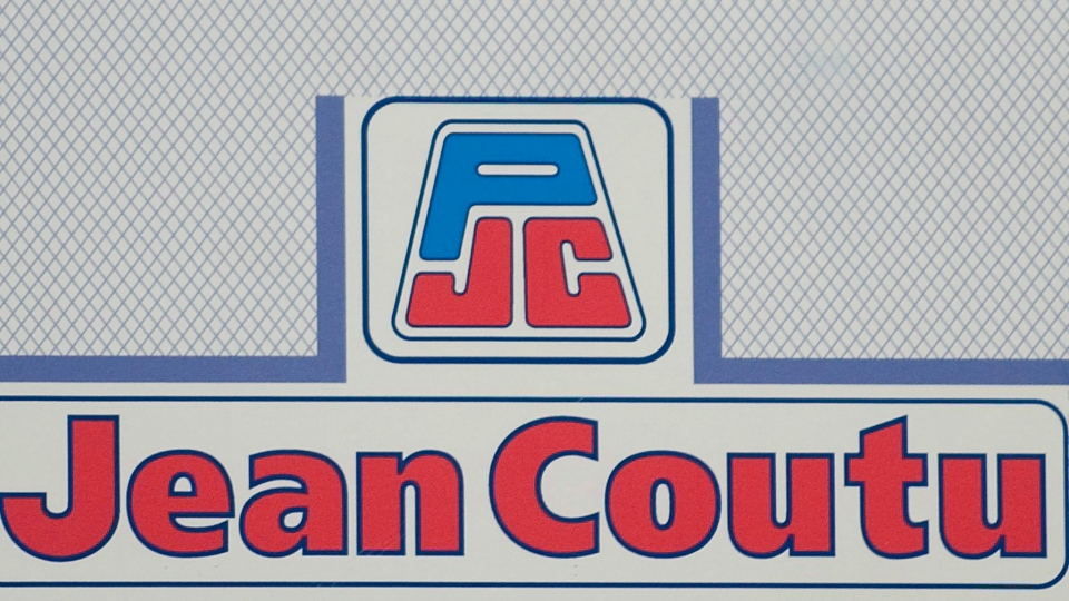 A Jean Coutu Group PLC logo is shown at the company's annual general meeting in Longueuil, Que., Tuesday, July 5, 2011. CANADIAN PRESS/Graham Hughes.