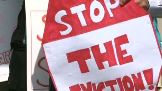 Stop the eviction sign