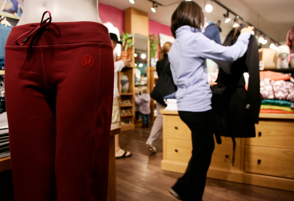 Shoppers browser through products at the Kitsilano Lululemon store in Vancouver in this 2007 file photo. (Richard Lam/THE CANADIAN PRESS)