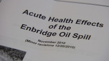 Health impacts of Enbridge spill