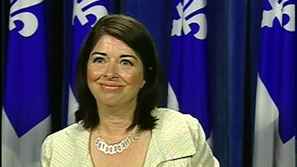 Education minister Line Beauchamp announced the new report cards will be used in 2011. (August 20, 2010)