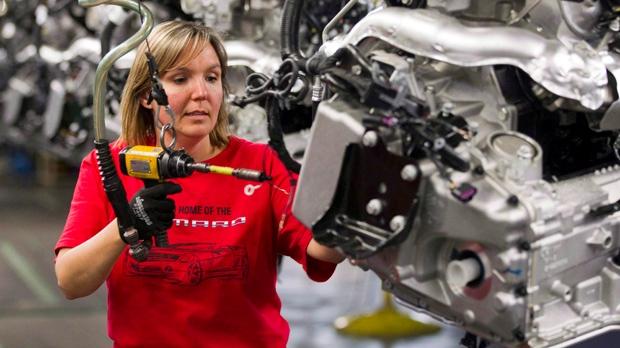 Car assembled at General Motors plant