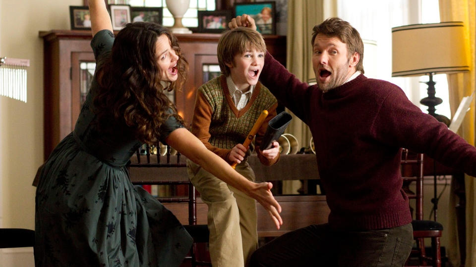 From left, Jennifer Garner, CJ Adams, and Joel Edgerton in a scene from