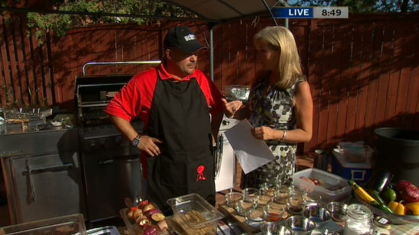 Chef Naz Cavallaro created three delicious dry rub recipes for grilled meats on Canada AM, Aug. 17, 2012.