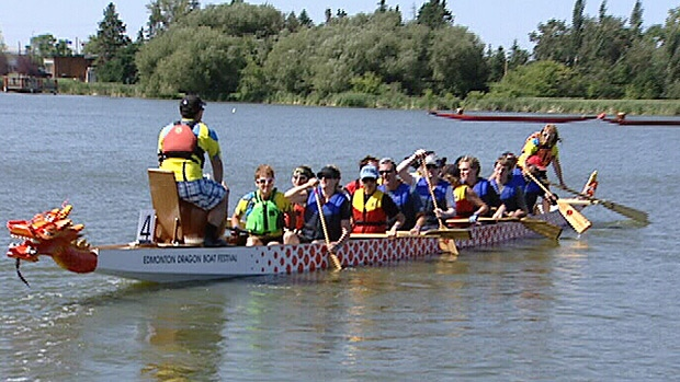 Visually impaired team race in dragon boat festival ctv news edmonton for Commonwealth pool swimming lessons